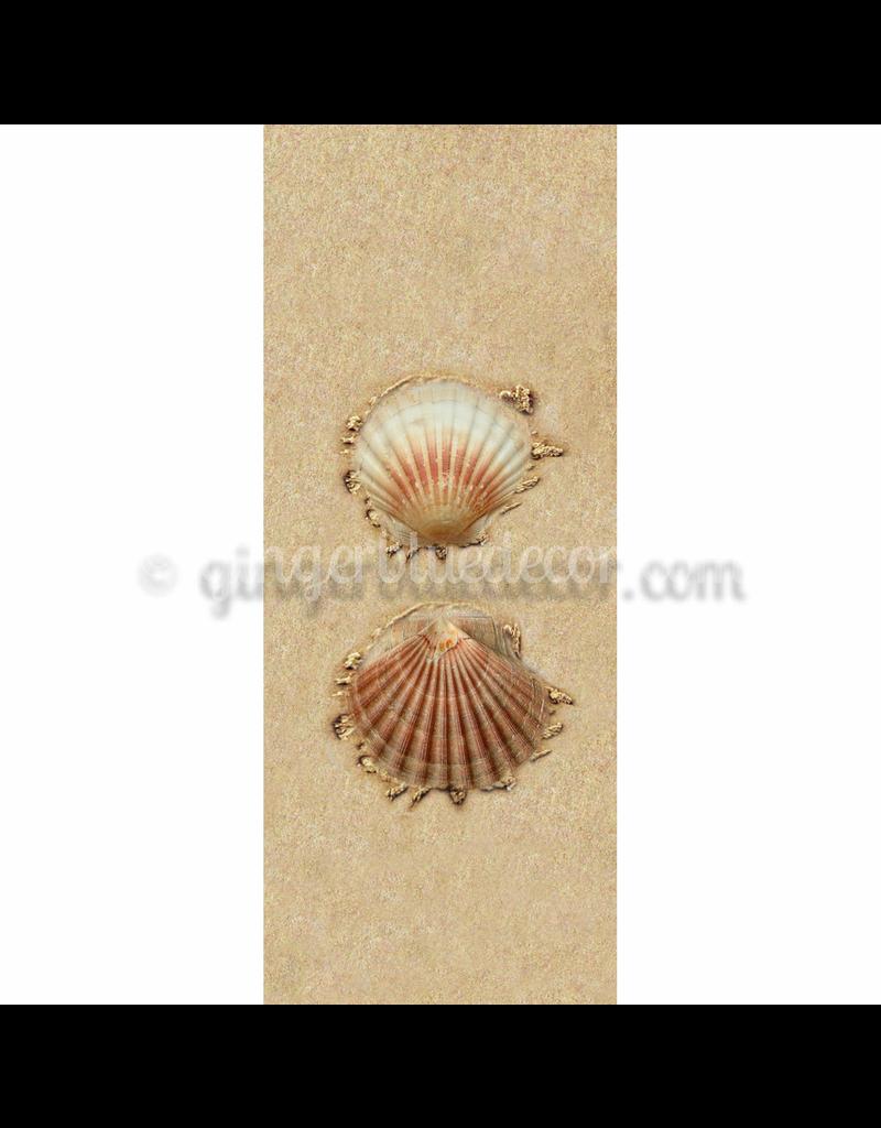 Ginger Blue Magnet-Sand Two Shells
