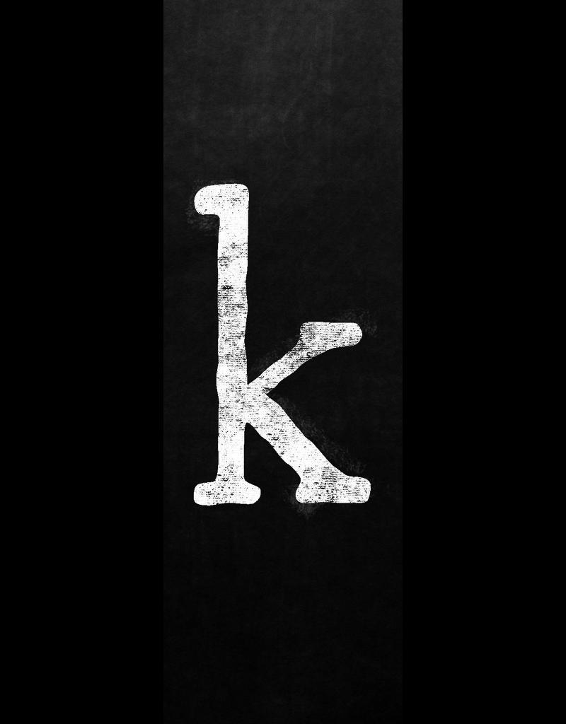 Ginger Blue Magnet-Chalk Letter - K (lower)