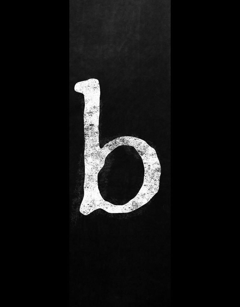 Ginger Blue Magnet-Chalk Letter - B (lower)