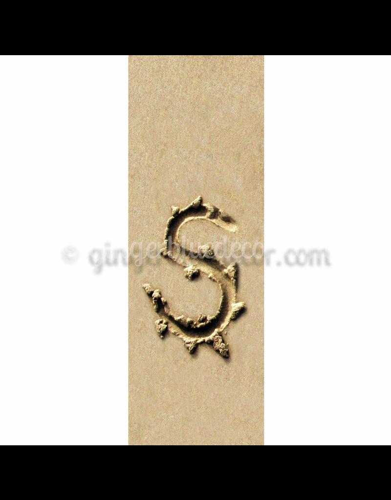 Ginger Blue Magnet-Sand Letter - S