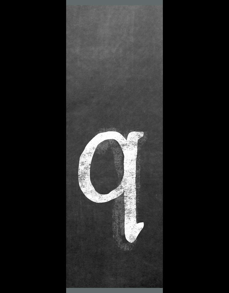 Ginger Blue Magnet-Chalk Letter - Q (lower)