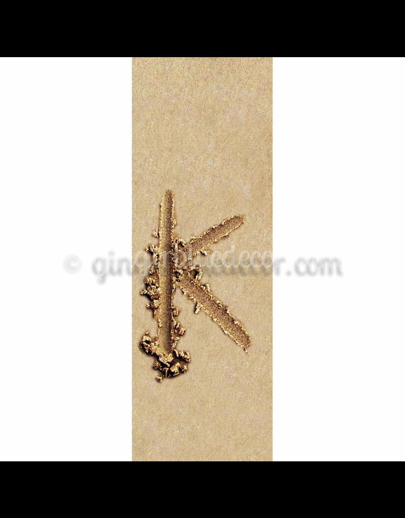 Ginger Blue Magnet-Sand Letter - K