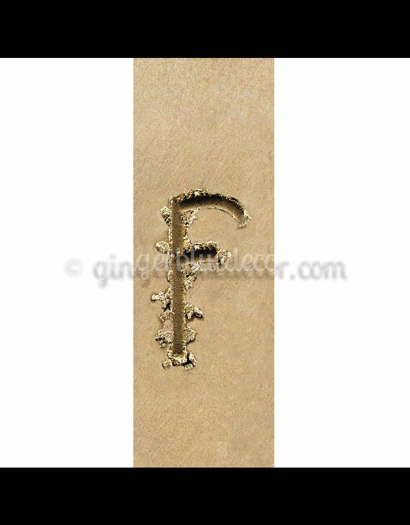 Ginger Blue Magnet-Sand Letter - F