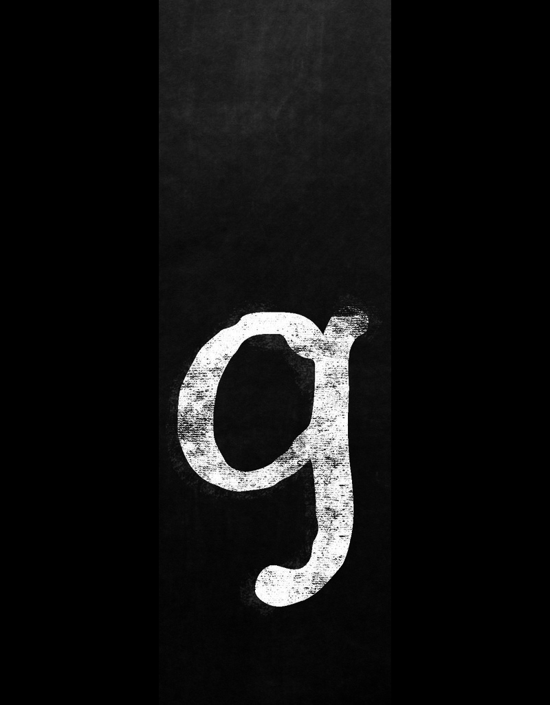 Ginger Blue Magnet-Chalk Letter - G (lower)