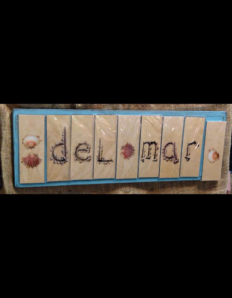 Ginger Blue Wood Magnet Board 7x22.5 - Aqua