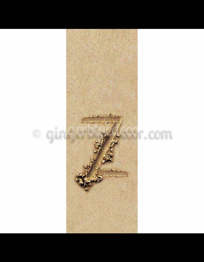 Ginger Blue Magnet-Sand Letter - Z