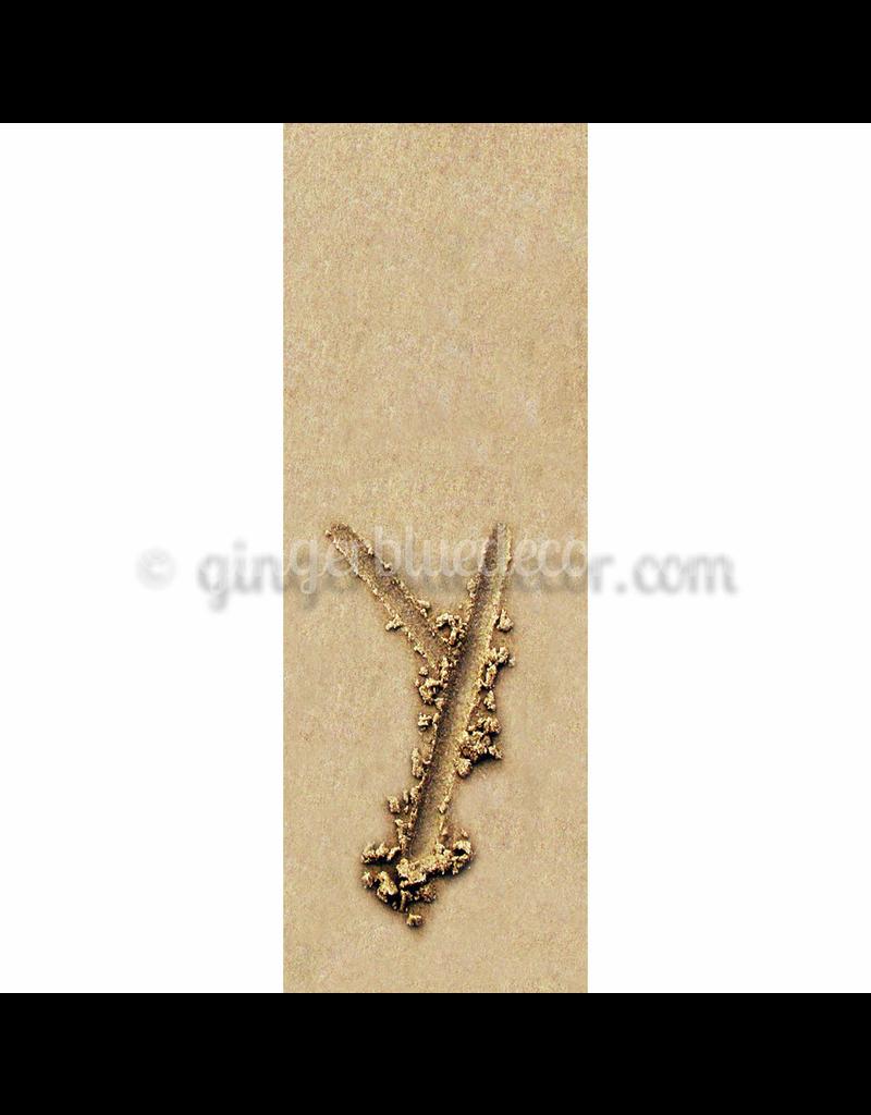 Ginger Blue Magnet-Sand Letter - Y
