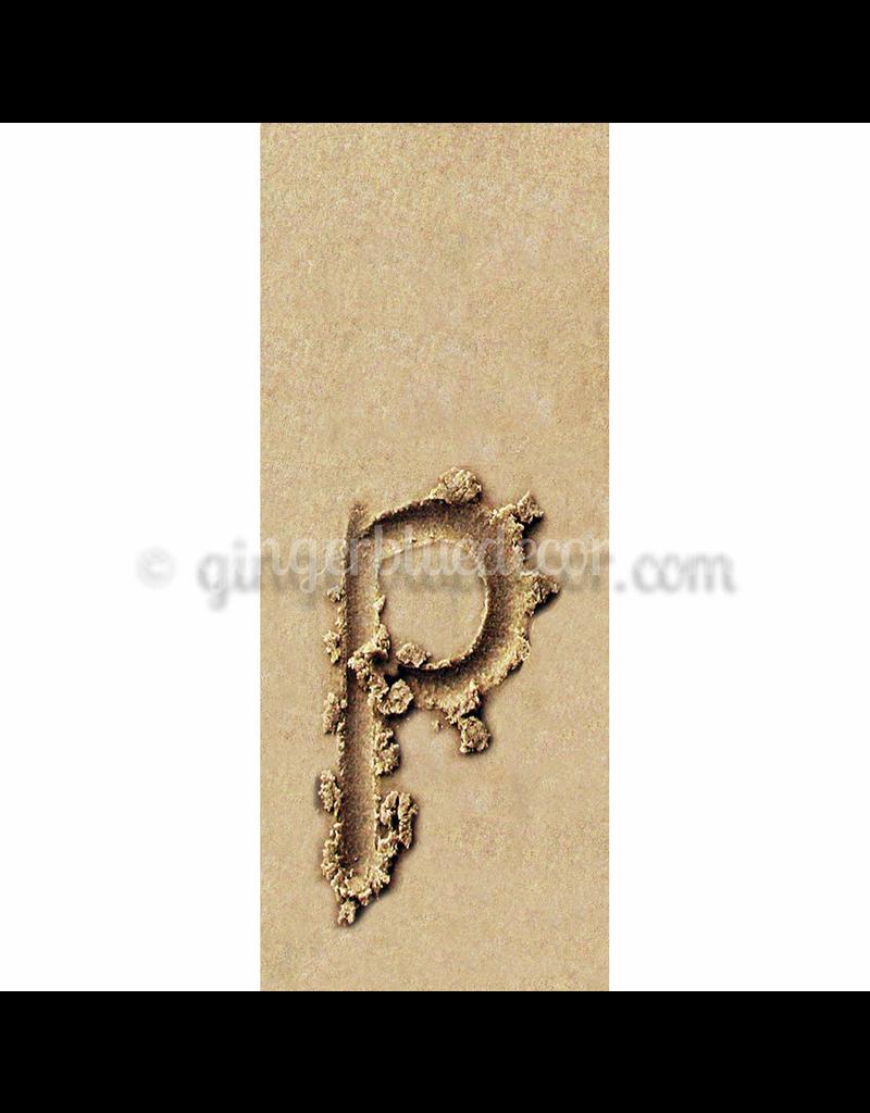 Ginger Blue Magnet-Sand Letter - P