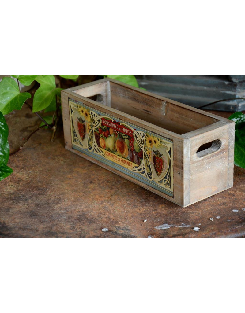Vintage Style Wooden Crate