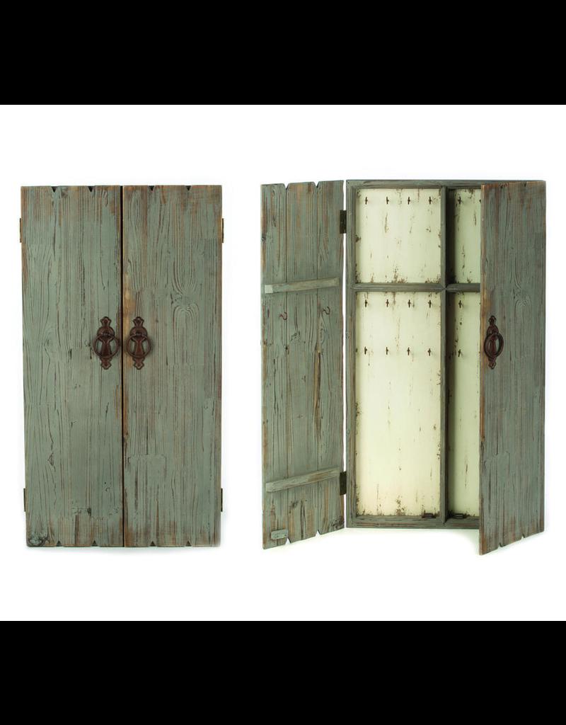 Tripar Int Distressd Grey Wood Display Cabinet