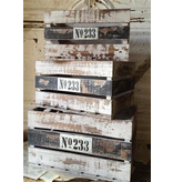 Striped Wooden Crate