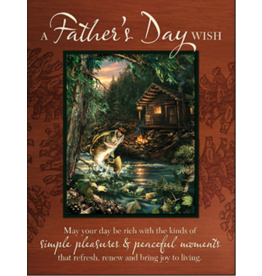 Leanin Tree Fathers Day Card: A Fathers Day Wish