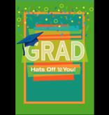 Leanin Tree Graduation Card: Grad Hats Off to You