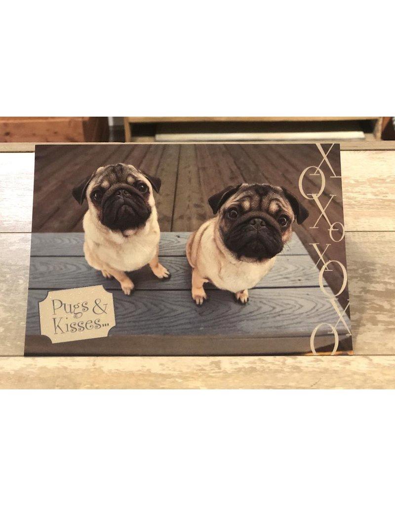 Leanin Tree Birthday Card: Pugs & Kisses