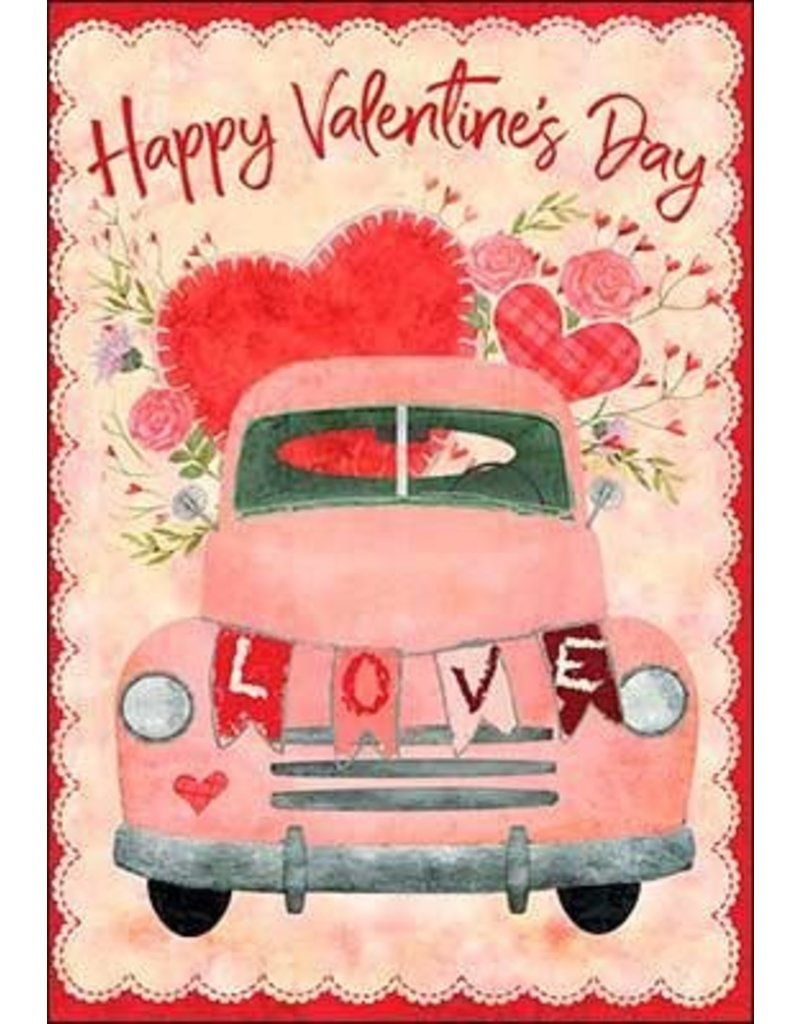 Leanin Tree Valentines Day Card: LOVE Happy V Day