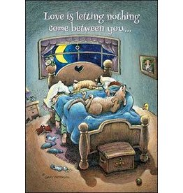 Leanin Tree Anniversary Card: Love Is Letting