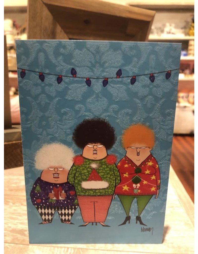 Leanin Tree Xmas Card: Ugly Sweater Women
