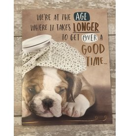 Leanin Tree Birthday Card: We're At The Age