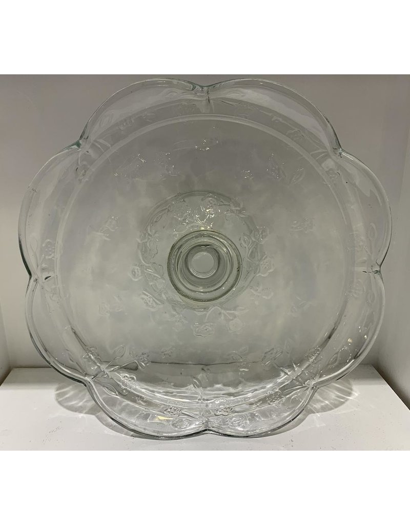 Cargo Collections Glass Serving Plate with Base
