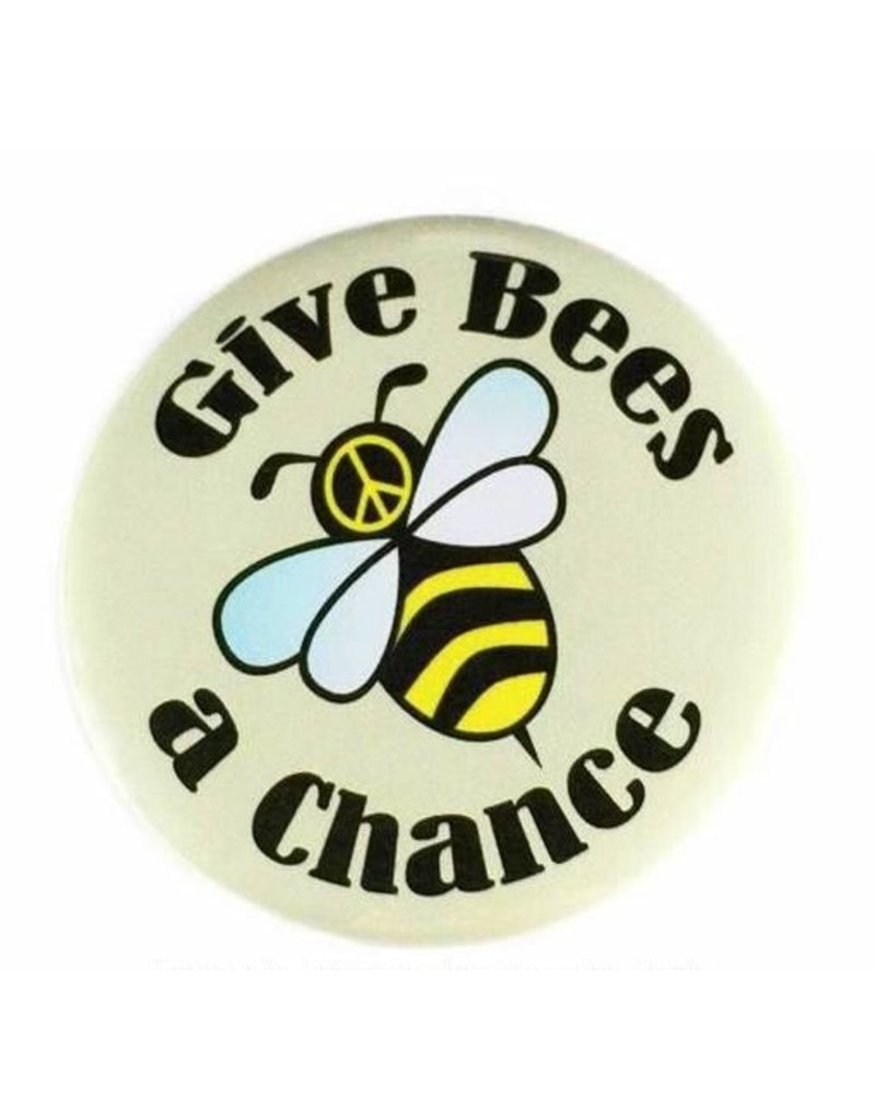 Good Eye Press Pinback Button-Give Bees A Chance