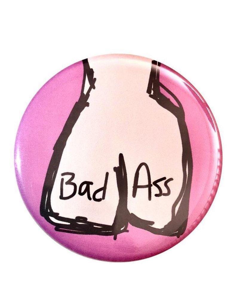 Good Eye Press Pinback Button-Bad Ass