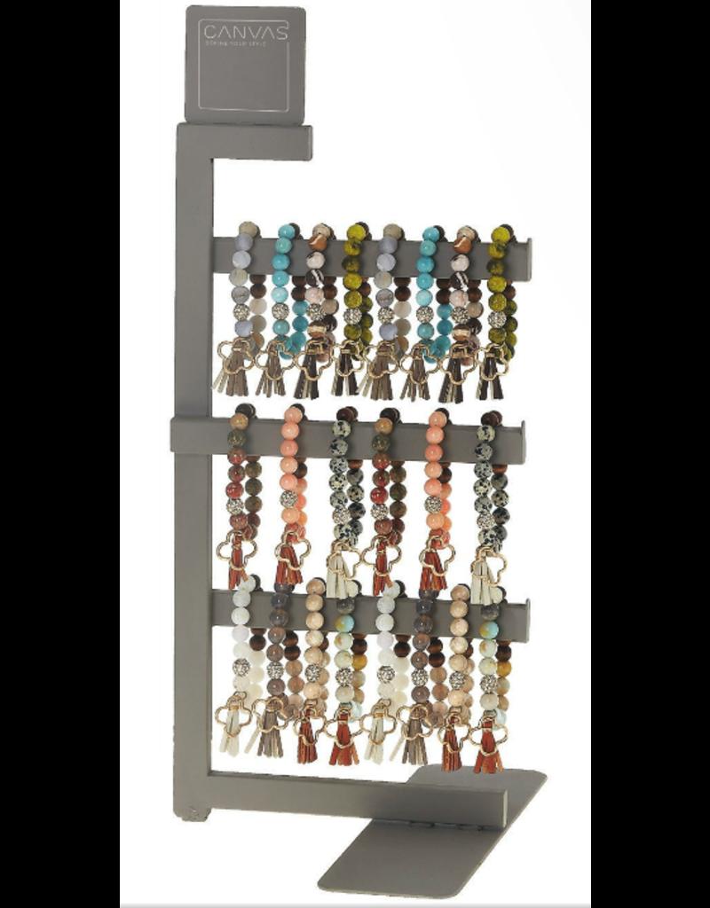 Canvas Jewelry Display-Metal Bracelet 3-Row
