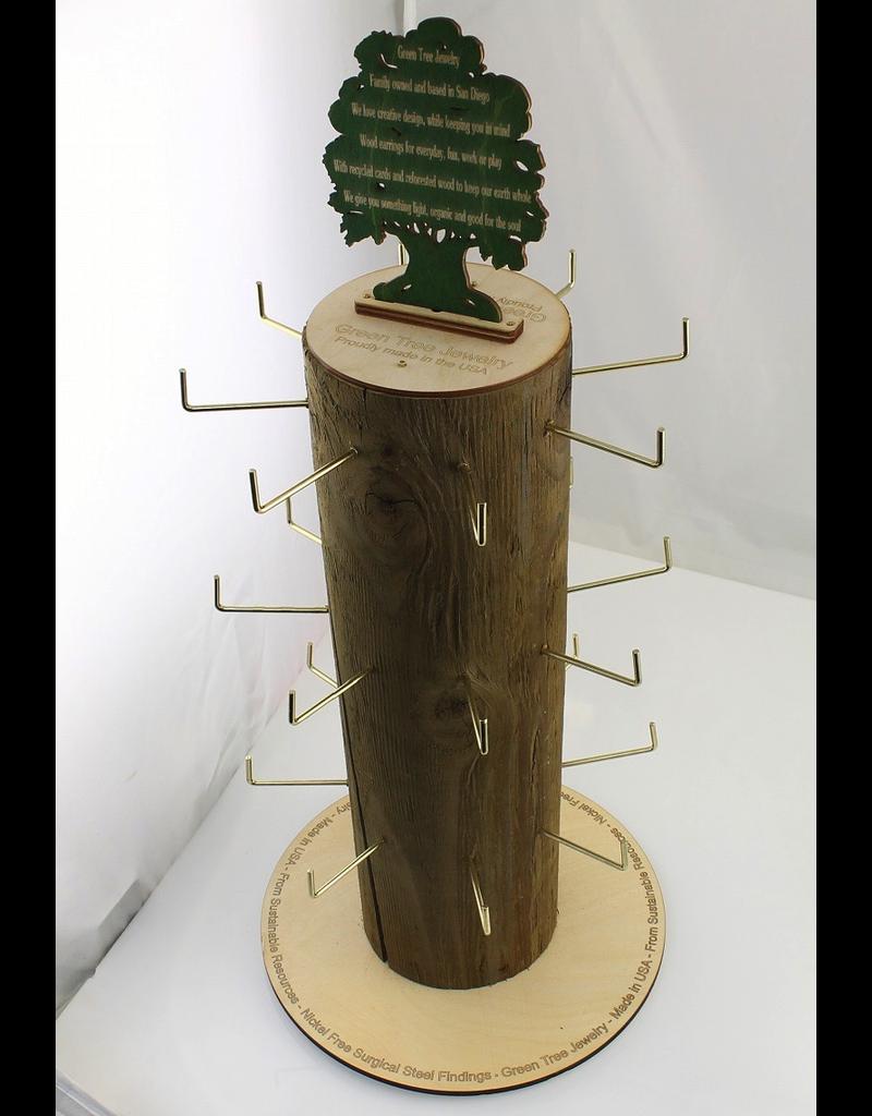 Green Tree Log Rack Display