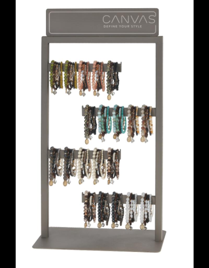 Canvas Jewelry Display-Metal Bracelet 4-Row