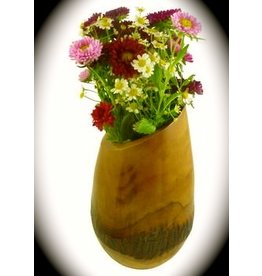 "Circa Home 55 Mango Wood Bark Vase - ""Honey"""