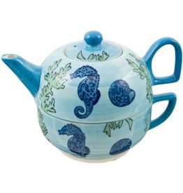 Tea For One - Seahorse Pot & Cup