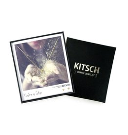Kitsch Kitsch-You're a Star Gold Set of Necklace & Earrings