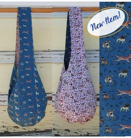 Art Studio Company Cotton Sling Bag-Dogs (Blue/Pink)