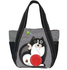 Chala Bags Tote-Carryall Zip-Cat-Black Stripe