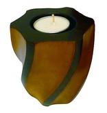Wave Pillar Candle Holder-HONEY