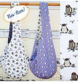 Art Studio Company Cotton Sling Bag-OWLS (Lavender/Cream)