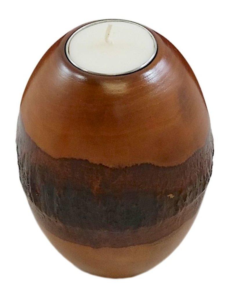 "Pillar Bark Candle Holders-""Honey"""