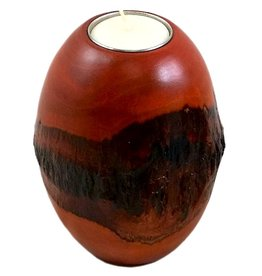 "Circa Home 55 Pillar Bark Candle Holder-""Orange"""