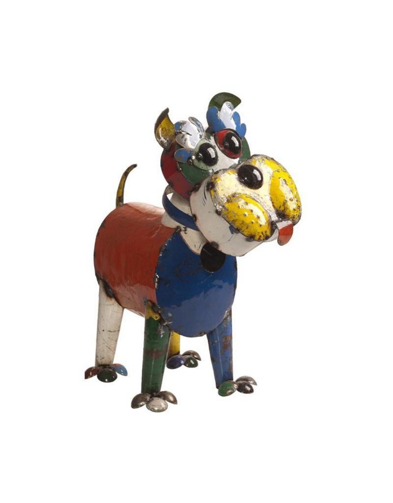 Think Outside Ralph The Dog (Small), Recycled Metal Art