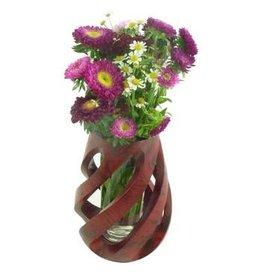 "Circa Home 55 Marble Mango Wood Spiral Vase-""Cherry"""