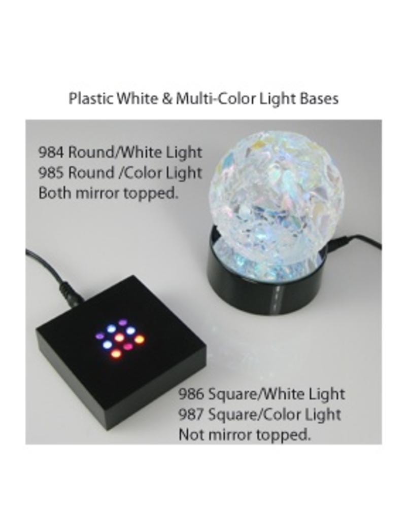 Glass Eye Studios Light Base Round - Mirror Top & White Light