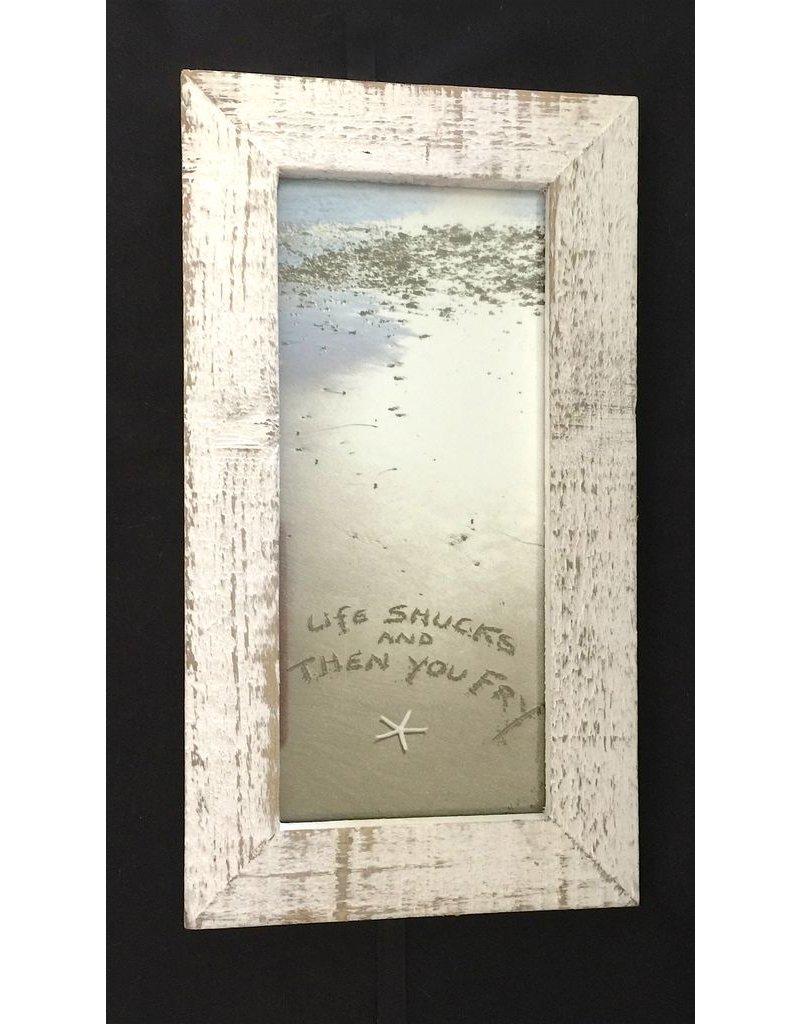 LisArt Framed Waves-'Life Shucks & Then You Fry'