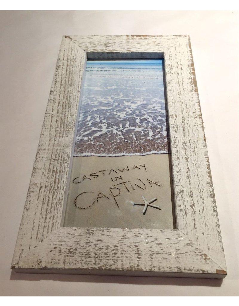 LisArt Framed Waves-'Castaway in Captiva'