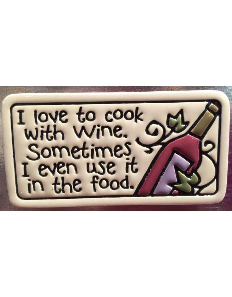 Spooner Creek Ceramic Magnet - 'I Love to Cook'