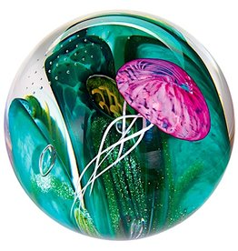 "Glass Eye Studios Glass Paperweight 3"" - 'Phantom of the Sea'"