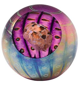 "Glass Eye Studios Glass Paperweight 3"" - 'Celestial Asteroid Juno'"