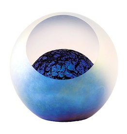 "Glass Eye Studios Glass Paperweight 3"" - 'Kepler 62F'"
