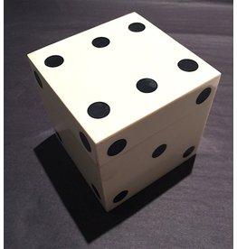 White Bone Dice Box w/5 Dice (LARGE)