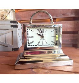 Classic Nickel Table Clock