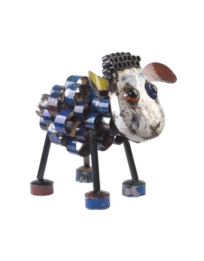 Think Outside Sid The Sheep (Small), Recycled Metal Art