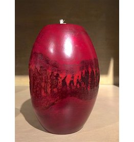 "Circa Home 55 Pillar Bark Candle Holder-""Cherry"""